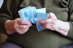 räkna pengar royaltyfri fotografi