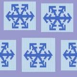 rät maskamodell som upprepar den seamless snowflaken Arkivbild