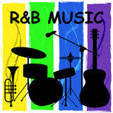 R&B Music Means Rhythm And Blues And Audio Stock Image