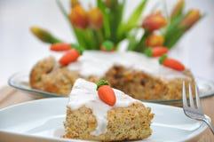 Rübitorte - german carrot cake for Easter Stock Photos