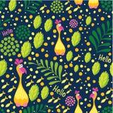 r Botaniczny styl Stosowny dla tkanin, furnit ilustracji