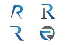 R Brief Logo Template stock illustratie