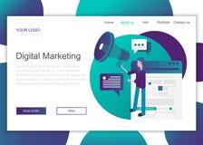 r Calibre de page d'atterrissage du marketing de Digital illustration stock