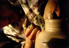 ręce artystyczne ceramiczne Obraz Stock