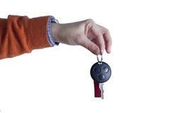 ręce klucz samochodowy gospodarstwa Zdjęcia Stock
