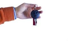 ręce klucz samochodowy gospodarstwa Obrazy Stock