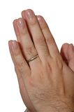 ręce modlitwa Zdjęcie Royalty Free