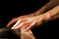 ręce na pianinie Obraz Stock