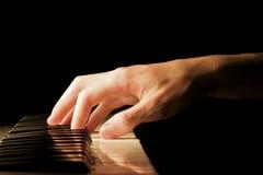 ręce na pianinie Zdjęcia Royalty Free