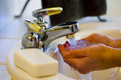 ręce pranie Fotografia Royalty Free
