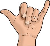 ręce shaka znak royalty ilustracja