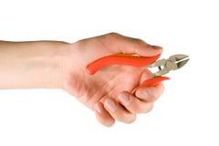 ręce sidecutter Zdjęcia Royalty Free