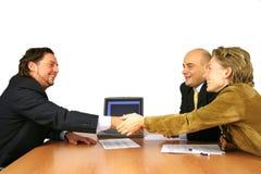ręce spotkanie drgawki sukces Zdjęcie Royalty Free