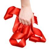 ręce tasiemkowa silna kobieta Zdjęcie Royalty Free