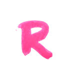R - Color letters isolated over the white background. Royalty Free Stock Photos