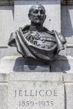 1r conde Jellicoe Bust en Londres Foto de archivo libre de regalías