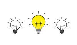 r ?cone do bulbo brainstorming creatividade Id?ia Ilustra??o do vetor ilustração do vetor