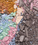 R crushed eyeshadows Royalty Free Stock Photo