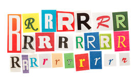 R cut out letter Royalty Free Stock Photo