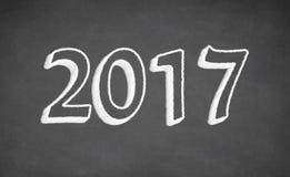 Ręcznie pisany na blackboard - 2017 Zdjęcia Stock