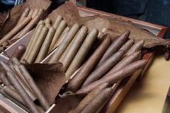 Ręcznie robiony cygar parejos Fotografia Royalty Free