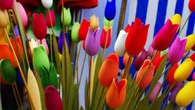 Ręcznie robiony drewniani tulipany Obrazy Stock
