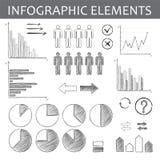 Ręcznie robiony infographic elementy Obraz Royalty Free