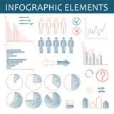Ręcznie robiony infographic elementy dla biznesu Zdjęcia Royalty Free