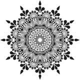 Ręcznie robiony kwiatów mandala, indyjskiego i arabskiego ornament, Fotografia Royalty Free