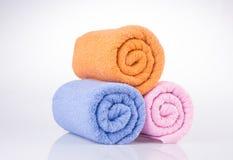 ręcznik ręcznik na tle Obrazy Royalty Free