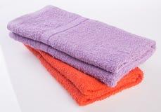 ręcznik ręcznik na tle Obrazy Stock