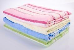 Ręcznik, ręcznik na tle Zdjęcia Stock