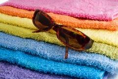 ręcznik sunglusses Obraz Royalty Free