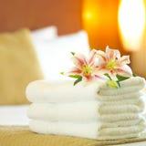 ręczniki hotelowe Zdjęcia Stock