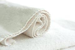 ręcznikowy biel Zdjęcia Royalty Free