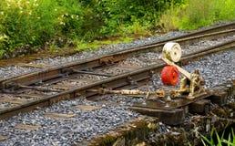 Ręczny kolejowy punkt Zdjęcia Royalty Free