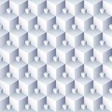 r 3D求样式的立方 容量六角形无缝的纹理 库存例证