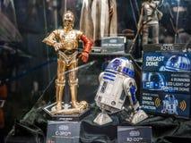 R2D2 & C3PO i Ani-Com & lekar Hong Kong Royaltyfria Foton