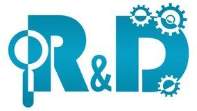 R.&D. - Onderzoek en Ontwikkelingsembleem Stock Fotografie