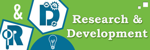 R And D - Research And Development Abstract Green Blue Royalty Free Stock Image