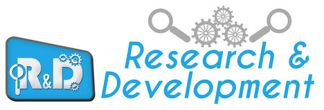 R And D - Research And Development Blue Triangle Royalty Free Stock Photography