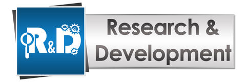 R And D - Research And Development Button Style Royalty Free Stock Photos