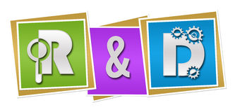 R And D - Research And Development Colorful Blocks Stock Photo