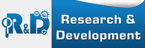 R And D - Research And Development Horizontal Stock Photo