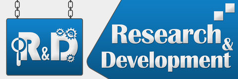 R And D - Research And Development Signboard Horizonral Royalty Free Stock Photography