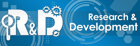 R And D - Research And Development Tecy Background Banner Royalty Free Stock Image