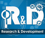 R And D - Research And Development Tecy Background Square Stock Images