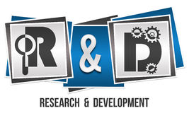 R And D - Research And Development Three Blocks Stock Image