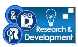 R And D - Research And Development Three Circles Stock Photos