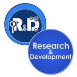 R And D - Research And Development Two Circles Royalty Free Stock Photo